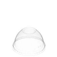 95mm Clear Domed Lid with Spoon Hole [DL95]